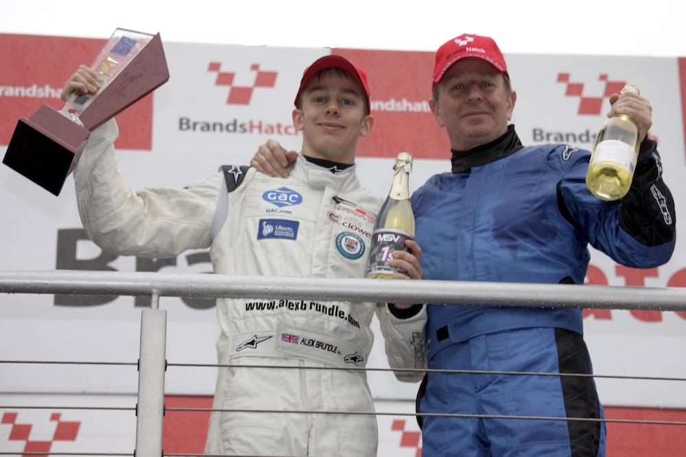 MSVR News - Martin Brundle and son Alex claim victory at MSVR Brands Hatch GP Weekend