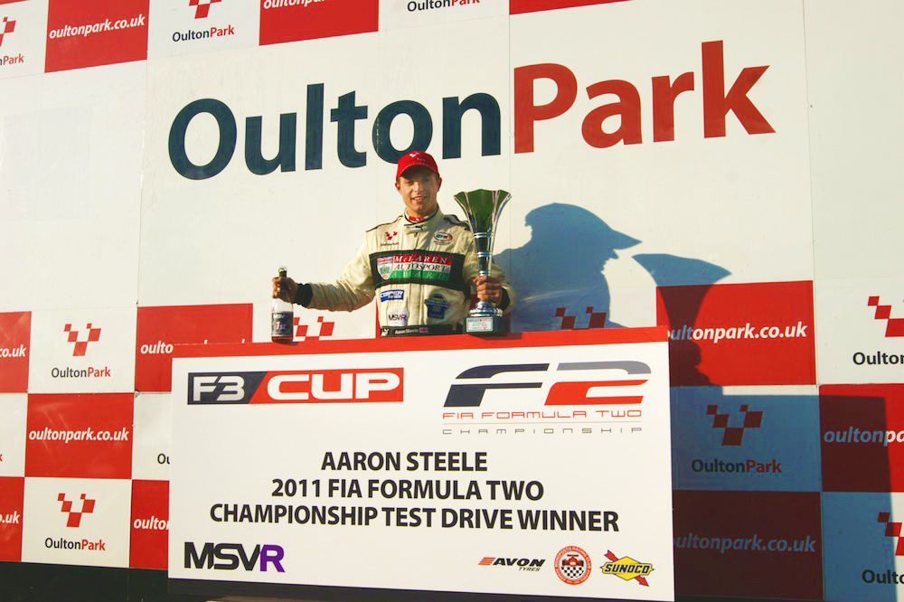 MSVR News - Steele thrilled by F2 Test Prize